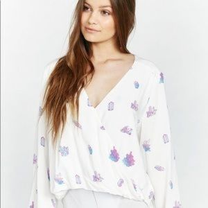 Wildfox crystal boho top